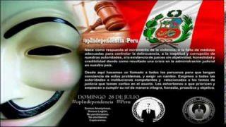 Feliz Independencia Pueblo Peruano #OpIndependencia Anonymous